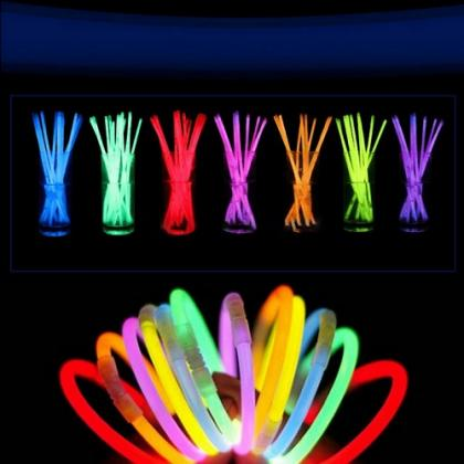 colorful glow bracelets