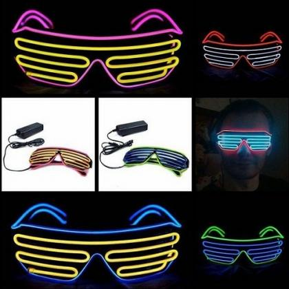 led flashing glasses