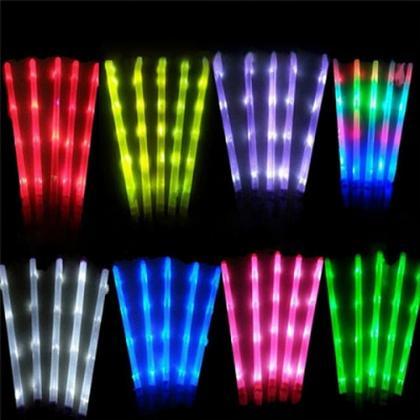 Battery Powered Led Glow Sticks 4 Electronic Lights
